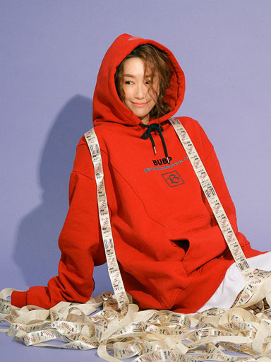 BUBP SIGNATURE OVER FIT HOODIE_RED