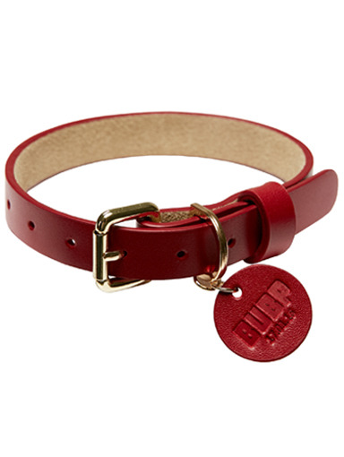 BUBP LEATHER COLLAR_RED