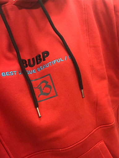 BUBP SIGNATURE OVER FIT HOODIE_RED [선주문예약 10%SALE]