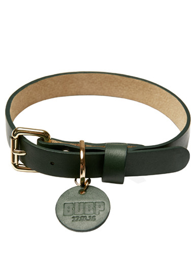 BUBP LEATHER COLLAR_GREEN